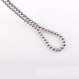 Wholesale Silver Hematite Loose Beads - Hot sale 4mm White Magnetic Hematite Round Loose Beads Silver Color Hematite Balls Fit Shamballa Bracelet Necklace ZBE16