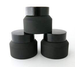 Nouveau Design 200 x 15G 30G 50G Pot de crème glacée en verre avec couvercles noirs Emballage cosmétique de récipient blanc Seal, Pot de crème de verre 15G ? partir de fabricateur