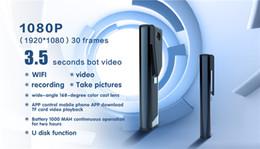 Wholesale Best Spy Mini Camera - Wireless Mini Hidden Camera Spy Pen 1080P HD Wearable Body Cam Best Meeting Recorder WiFi Digital Camcorder Portable Meeting Video DVR