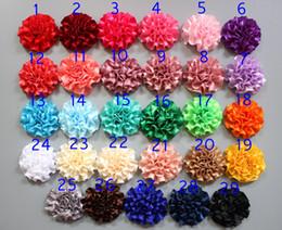 2019 flat back tecido flores 50 pçs / lote 1.9