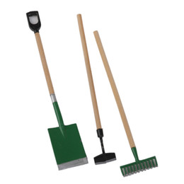 Wholesale Miniature Dollhouse Tools - Wholesale- Miniature Dollhouse Set of 3 Garden Tools Fairy Garden Accessories Pretend Play Classic Educational Toys Gift for Kid Children