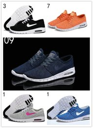 Wholesale 36 Colors Pure - 12 pure colors SB Stefan Janoski Max Running Shoes Men And Women Fashion Konston Lightweight Skateboard Athletic Sneakers Maxes Size 36-45