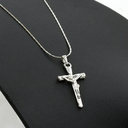 Wholesale Wholesale Necklace Chain Bulk - Europe and the United States new Jesus cross necklace, exquisite ornaments, pendants, accessories, clavicle chain sold in bulk