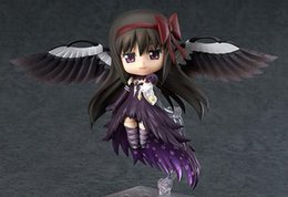 Wholesale Movable Dolls Christmas - 20151016 NEW hot 10cm Q version Puella Magi Madoka Magica Akemi Homura Movable Action Figure Toys Collection Christmas Toy Doll With Box