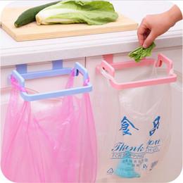 Wholesale Cabinet Trash Bag Holder - New Portable Kitchen Hanging Trash Rubbish Bag Holder Garbage Rack Cupboard Cabinet Storage Rag Hanger