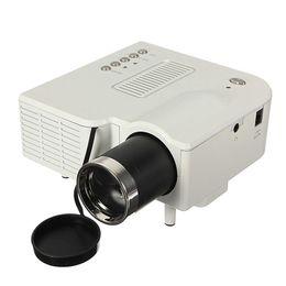 Proyectores de alta luminosidad online-Al por mayor-Nueva llegada de alta calidad UC28 + Proyector Mini HD Multimedia LED Proyector Home Cinema HD 1080P Soporte AV VGA SD USB HDMI
