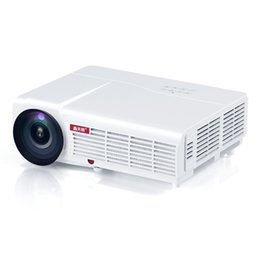 Wholesale Projector Hd Led Lumens Hdmi - Wholesale- LED96 5500lumens fuLl lEd96 HD Home Theater Video LED Projector hdmI usb pc av 1080P Projektor Projetor Proyector Beamer