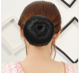 Wholesale Blonde Buns - 1pc Hair Scrunchy Hair Donut Hair Bun Ring To Blend With Own Hair Braider New Women Hairpiece 8 Styles available