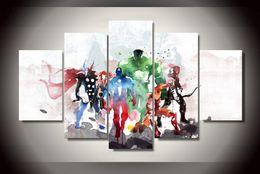 malerei bestellen Rabatt 5 Stück Rächer moderne Kunst Malerei Leinwand HD Print Raumdekor Bild (mit Montagezubehör, ungerahmt nur Leinwand)