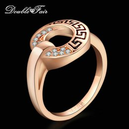 Wholesale Unique Rocks - Unique Chic Vintage Party Rings 18K White Gold Plated Ring CZ Diamond Rock The Finger Ring Fashion Jewelry For Women DFR220   DFR221