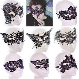 Wholesale Lace Masquerade Masks For Women - New Sexy Lace Party Masks Women Ladies Girls Masquerade Mask Venetian Half Face Mask Christmas Cosplay Party Eye Masks WX-M07