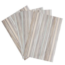 Wholesale Modern Table Runners - Wholesale-Set of 4 PVC Decorative Vinyl Placemats for Dining Table Runner Linens place mat in Kitchen Accessories Cup Wine mat coaster pad
