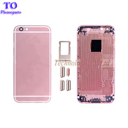 Wholesale Iphone Cases Part - For iPhone 6S Plus Battery Cover Back Housing Back Cover Rear Door Case Grade A White Black Gold Assembly Replacement Phone Parts