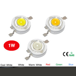Wholesale High Power Led Diodes - Wholesale- 10pcs Real Full Watt CREE 1W High Power LED lamp Bulb Diodes SMD 110-120LM LEDs Chip For 3W - 18W Spot light Downlight