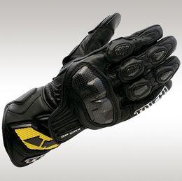 Водонепроницаемые перчатки для мотоциклов онлайн-Мотоциклетные перчатки TAICHI Man Кожаные перчатки Водонепроницаемые велосипедные гонки Мотоциклетные перчатки Luvas Guantes de moto для мотокросса