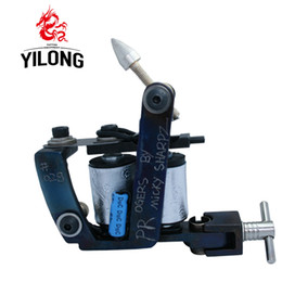 Wholesale Tattoo Machines Tools - New Professional Casting Iron Tattoo Machine 10 Wraps Coil Stainless Steel Tattoos Body Art Gun Makeup Tool 1100828