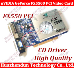Wholesale Vga Ddr Card - Wholesale- Free Shipping 100% NEW nVIDIA GeForce FX5500 256MB 128bit DDR VGA DVI PCI Video Card