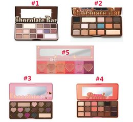 Wholesale Eyeshadow Palette Style - 5 Styles Eye Shadow Faced Palette Chocolate Bar Semi Sweet Semi-sweet Bon Bons Sweet Peach Eyeshadow Love Flush Blush Makeup (All In Stock!)