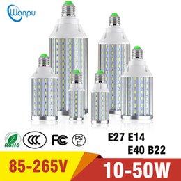 2019 b22 levou 35w Lâmpada de Milho LED Ultra Brilhante SMD5730 AC85V-265V E27 Alumínio PCB de Refrigeração LED Spot light Lâmpada 10 W 15 W 20 W 25 W 30 W 35 W 40 W 50 W b22 levou 35w barato