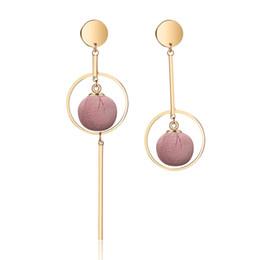 Wholesale Cloth Earrings - Hot Sale Irregular Women's Earrings Creative Cloth Ball Dangle Drop Earrings Simple Wedding Engagement Ear Stud Women Fashion Jewelry