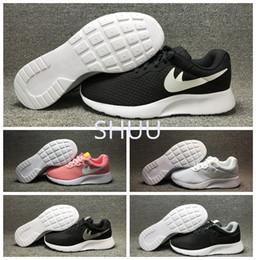 Wholesale Hot Inks - Hot New Run London Olympic Tanjun SE Women Men Ink Full Black White Athletic Lightweight Mesh Sport Running Sneaker Shoes Size 36-44