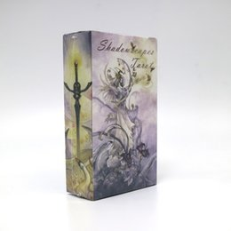 Wholesale Tarot Card Wholesale - Wholesale- shadowscapes tarot cards game 78 cards deck raindrop water proof free shipping tarot board game
