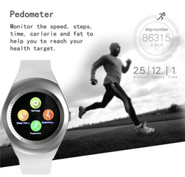 """Wholesale track cards wholesale - Y1 Smart Watch 1.54"""" Touch Screen Fitness Activity Tracker Sleep Monitor Pedometer Calories Track Support SIM Card Solt"""