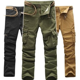 Wholesale Christmas Workers - 2017 Worker Pants CHRISTMAS NEW MENS CASUAL MILITARY ARMY CARGO COMBAT WORK PANTS TROUSERS SIZE 28-38#