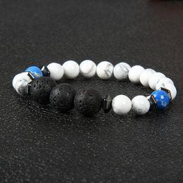 счастливый камень браслет Скидка Новый дизайн лето мужской браслет 1 шт. 8 мм с 12 мм лавровый камень тигровый глаз камень бусины повезло энергии браслеты для мужчин