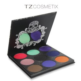 Wholesale Twilight Wholesale - Factory Price New TZ Cosmetix Twilight Eyeshadow Palette Matte eye shadows makeup palettes Shimmer Diamond Foiled Colors 9 color eyeshadow p