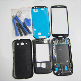 Wholesale Car S3 Cover - Replacement Parts For Samsung Galaxy S3 I9300 I9305 i9300i Full Housing Cover Car case Case Accessories +Screen Glass Lens +Button +Tools