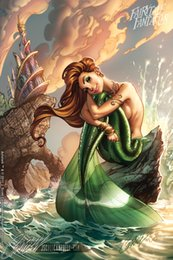 "Film di sirene online-The Little Mermaid Movie Poster in tessuto 36 ""x 24"" Decor --03"