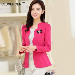 Wholesale Working Jacket Women - Wholesale- CLUXERCER Brand Jackets Women Office Work Wear Clothes Casual Women Spring Jackets Tops chaqueta mujer oficina jaqueta feminina