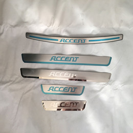 Wholesale Hyundai Sedans - for Hyundai Accent Sedan 2012 2013 2015 Door Sill Strip Welcome Pedal And Rearguards Car Styling Sticker Auto Accessories 5pcs