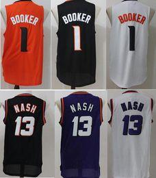 Wholesale Basketball Barkley - 34 Charles Barkley Jersey 14 Charles Barkley Jerseys Basketball Uniforms Throwback Purple Black White 1 Devin Booker,13 Steve Nash Jersey