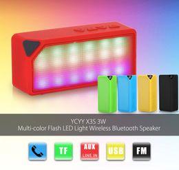 Haut-parleur sans fil Bluetooth multi-couleur X3S Mini avec prise en charge de la lumière intégrée du microphone intégré Carte USB / AUX / FM / Radio / TF ? partir de fabricateur