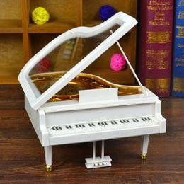 Wholesale Piano Ornament - European Piano Music Box Music Box creative gift plastic crafts lovers birthday gift ornaments