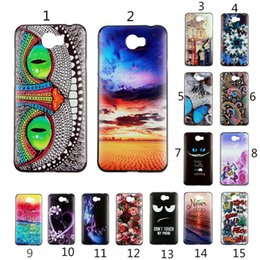 Wholesale Huawei Phone Cartoon Case - Ultrathin Soft TPU Case for HuaWei Y5ii  Y6ii Flower Plants Cartoon Patterned Silicone Compact Phone Case Bags Fundas Cover
