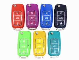 Wholesale Volkswagen Key Fobs - 2016 new Flip Folding 3 Buttons Remote Car Key Case Shell Fob For Volkswagen Vw B5 Passat remote key blank cover with LOGO