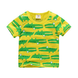 Wholesale Child Activewear - Fashion kids Tops short Sleeve T Shirt Children Shark Activewear Boys Shirts Kids Clothing