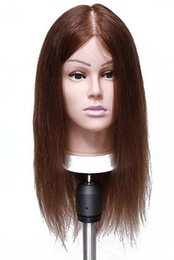 "Wholesale Training Mannequin Heads Human Hair - wholesale Free delivery!! Professional 18 ""color six human hair Beautiful Hairdresser Training Head Model Mannequin,M00606"