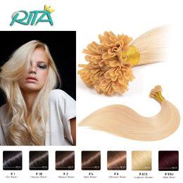 "Wholesale Natural Nail Glue - 16""-24"" 0.5g 100pcs Keratin Glue NAIL HAIR U Tip Hair Extensions Brazilian Remy Hair Good Quality 50g Extensions"