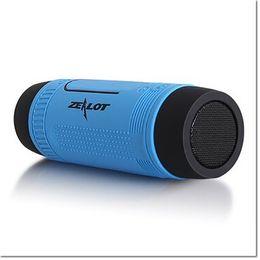 Wholesale Bluetooth Flashlight - HIgh quality Zealot S1 Mult Mini Wireless Bluetooth Speaker LED Flashlight TF USB FM Handsfree Sound Box Subwoofer Loudspeakers with Mic
