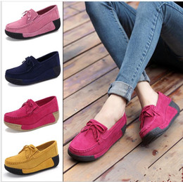 Wholesale Women Tassel Loafers - Us size: 5-8.5 Women's shoes Flat Platform Loafers Elegant Suede Moccasins Fringe Shoes Woman Slip On Tassel Moccasin Women's Casual Shoes