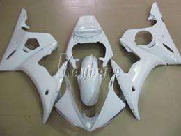 Kits de carenados del mercado de accesorios yamaha r6 online-Kit de carenado de piezas de recambio para YAMAHA R6 2003 2004 2005 conjunto de carenados blancos YZF R6 03 04 05 IY07