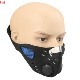 Wholesale Face Mask Bicycle - Hot Activated Carbon Dustproof Anti-Pollution Windproof Half Face Mask Outdoor Mountain Bicycle Sport Cycling Filter Face Mask Hot TK1049