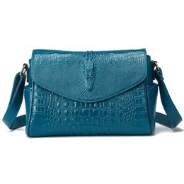 Wholesale Pattern Packets - Wholesale-Women Messenger shoulder bag crocodile pattern small square package packet 2016 new spring and summer minimalist tide B059