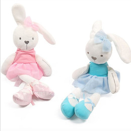Wholesale Mini Plush Bunnies - 42cm Cute Bunny Baby Soft Plush Toys Mini Stuffed Animals Kids Baby Toys Smooth Obedient Sleeping Rabbit Doll