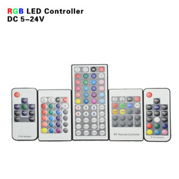Wholesale Mini Controler - factory sale IR RF RGB LED Controller Mini LED Strip Light Remote Control 10 17 20 24KEY 44Key Controler for SMD 5050 3528 2835 3014 Strips
