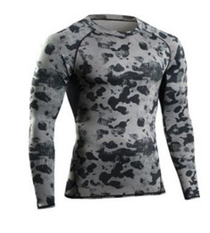 Wholesale Long Sleeve Body Shirt - 2017 NEW Man Gym Clothing Tshirt Long Sleeve Compression Fitness Men Tee Shirt Body Workout Clothes Camouflage Bodybuilding Wear